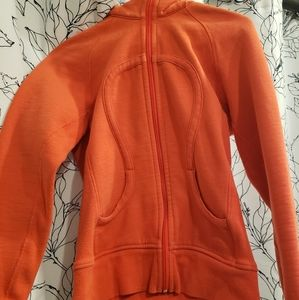 Lululemon orange hooded jacket